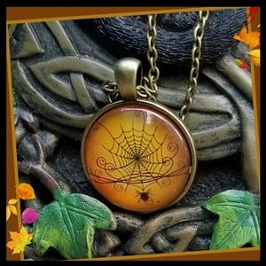 New! Spider web Necklace